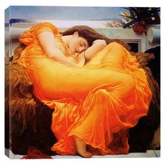 Print+of+Frederick+Leighton's+Flaming+June+on+canvas.+  Product:+Wall+artConstruction+Material:+Cotton+canvas+a...