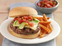 Get Zesty Salsa Burgers Recipe from Food Network