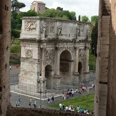 Arch of Constantine in Rome as seen from Colosseum. Our prints make great Mother's Day gifts!