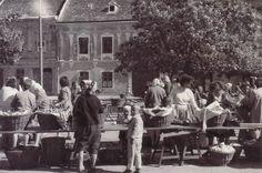 Piac Sopronban. 1962.