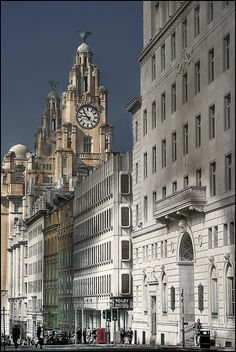 Stunning Picz: GRE building in Water Street, Liverpool, England Liverpool Home, Liverpool England, London England, Liverpool Docks, Liverpool History, Liverpool Street, Wonderful Places, Beautiful Places, Amazing Places