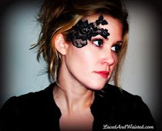 Steampunk Makeup - Adhesive Lace Masks & Decorative Tattoos by LacedAndWaisted