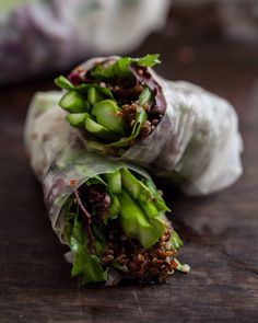 Asparagus and Quinoa Wrap