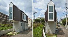 A casa que apresentamos aqui, é muito estranha por fora, no entanto o seu interior não tem nada haver com o exterior, o interior é fantástico. A casa projectada pelos arquitectos da Mizuishi Architectes Atelier. No Japão é muito comum a construção deste tipo de casas pequenas, é mais barato para as famílias.