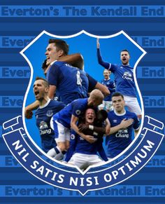 Everton- forever Everton Nil Satis Nisi Optimum Kendall End edit Soccer Images, Everton Fc, Kendall, Rooms, Football, Club, Stickers, Modern, Sports