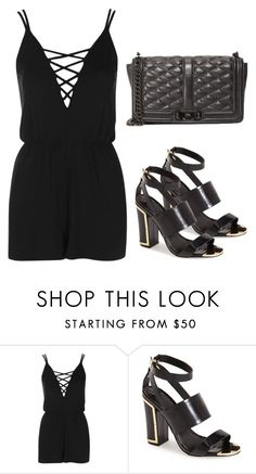 """""""Sem título #2829"""" by beatrizvilar ❤ liked on Polyvore featuring Topshop and Rebecca Minkoff"""