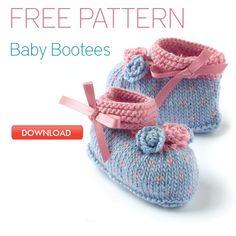 Free knitting pattern for babies – gorgeous bootees | LoveKnitting Blog