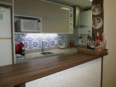 Cozinha com ladrilho hidráulico!