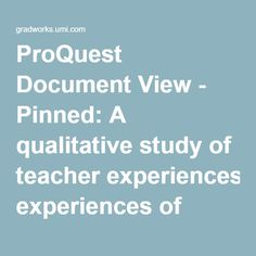 ProQuest Document View - Pinned: A qualitative study of teacher experiences of interfacing with online resources for lesson planning. University of Texas (2015).