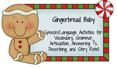 """Gingerbread Baby"" Free Story Retelling Printables"
