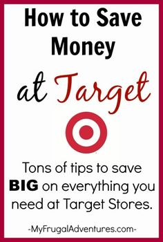 How to Save Money at Target-- tons of tips to save big on everything you might need at Target stores!  (A must read for Target shoppers!)