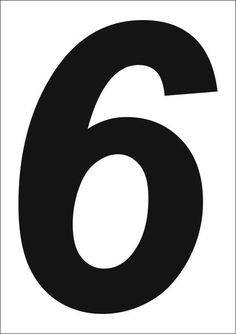 Resultado de imagem para numeros 6