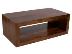 """Aiden Rectangle Coffee Table Features:  Dimensions: 17""""H x 47""""W x 26""""D Solid Mango Wood Color: Sienna Matching Console Table and Cube Also Available"""