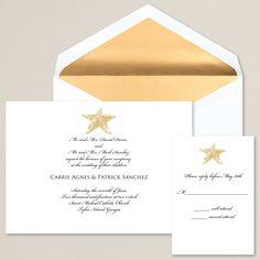 Elegant Starfish Wedding Invitation