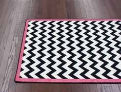 Black chevron with hot pink border