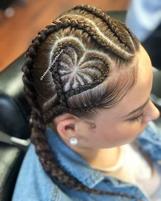 Black Girls Hairstyles, Braided Hairstyles, Extreme Hair Growth, Conrows, Middle Hair, Romantic Surprise, Barber Shop, Short Hair Styles, Braids
