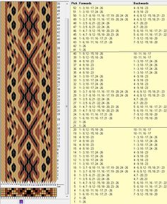 26 tarjetas, 3 colores, repite cada 20 movimientos // sed_321 diseñado en GTT༺❁