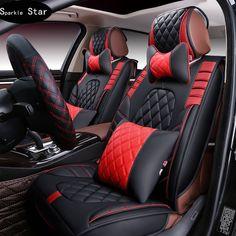 3D Спортивный Автомобиль Чехол для Сиденья Вообще Подушки, Старший pU Кожа, Автомобиль Чехлы, Стайлинга Автомобилей для BMW 525 330i 530i ВНЕДОРОЖНИК для audi a6 4 x5