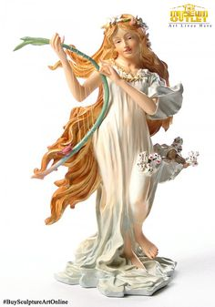Browse original and unique sculptures made by emerging talent at affordable prices at #TheMuseumOutlet. Discover exquisite sculptures in our online shop, #Buy this #SculptureArt of #SpringMaidenFromFourSeasonsByMucha from our #Online shop.  Visit: https://www.themuseumoutlet.com/spring-maiden-from-four-seasons-by-mucha