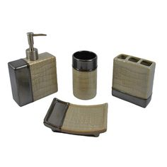 Crackle Bath Accessory Collection Bathroom Accessories Sets
