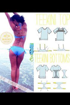 Diy swimwear from a T-shirt