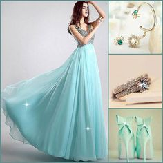Wear this outfit on your big day ? #PromDress #PartyDress #Bracelet #Ring #Shoes #Fashion #FreshFashion