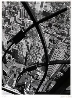 After working as Man Ray's studio assistant, Berenice Abbott returned to the United States, where she perfected her famous bird's-eye & worm's-eye points-of-view. #WomensHistoryMonth Berenice Abbott, 1938