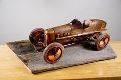 This wooden model replica of a 1925 Miller Indy Car project was the winner of the Miscellaneous/ Turning Division of the 2016 Adventures in Wood Show at the Indianapolis Rockler store.