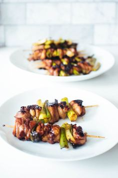 Chicken yakitori! Perfect for the grill or cast iron skillet at home. Use chicken thighs for extra juiciness. Plus this teriyaki sauce recipe can be used in all sorts of dishes. A great way to try out cooking more Japanese food at home for an easy dinner!