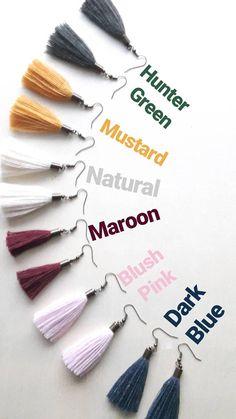 ELYSE Tassel Earrings // assorted colors