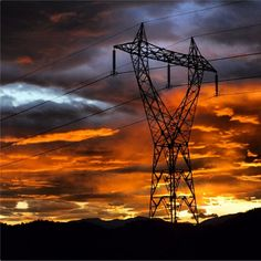Instagram of power transmission lines at sunrise in Western Norway, taken by an ABBian