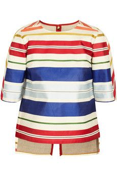Stella McCartney Striped structured twill top | THE OUTNET