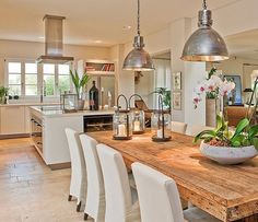 Really like the feel of this open plan room. It has a industrial feel but also a modern Coastal feel (if that makes sense ). Anyway I'm liking it very much! (Credit:So Design) #openplan #kitchen #kitchendesign #diningroom #diningroomdecor #countrykitchen #countryliving #provincial #beachhome #coastalliving #homeliving #homedesign #house #housedesign #tiles #interiordesign