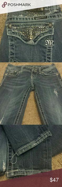 """Miss Me Skinny Bling Jeans! Miss Me Skinny Bling Jeans! Size 26, inseam  29"""". EUC. Miss Me Jeans Skinny"""