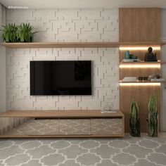 Good Housekeeping Mantra: 30 TV Wall Units To Organize And Stylize Your Home Tv Unit Decor, Tv Decor, Wall Decor, Decor Ideas, Home Room Design, Home Interior Design, House Design, Interior Decorating, Home Living Room