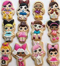 LOL Surprise Dolls Sugar Cookies