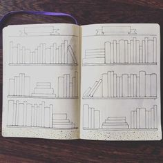 "follow me @cushite befransorr:  Ive drew a ""books to read"" spread in my Bullet Journal® so I can…"
