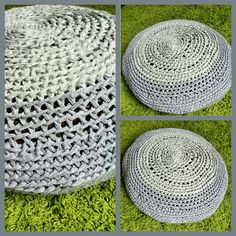 #Crochet #puff #trapillo