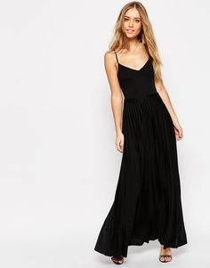 32f2a94a85 ASOS Cami Maxi Dress with Pleated Skirt at asos.com