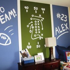Football Themed Room Design Pictures Remodel Decor And Ideas