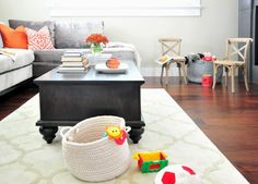 5 Ways to Create a Kid-friendly Family Room. *I'm tired of feeling like I live inside of Toys R Us!*