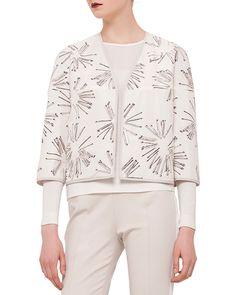 3/4-Sleeve Matchstick Reversible Jacket, Canvas, Women's, Size: 10 - Akris punto