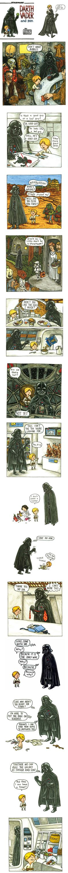 Love it. (Darth Vader and Son by Jeffrey Brown)