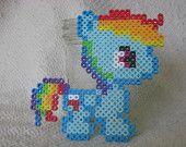 Perler Bead Rainbow Dash
