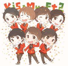 KiS-MY-FT2 Multimedia, Anime, Kawaii, Fan Art, Illustration, Twitter, Music, Livres, Kawaii Cute