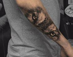 Wolf eyes by Kenn Skogli at Attitude Tattoo Oslo Norway