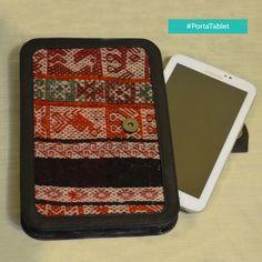 Porta Tablet - 100% Cuero Peruano y con manto exportado de Cusco de oveja