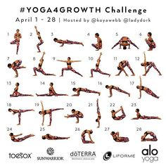 I'm excited!!!! We have another  #Yoga4Growth challenge coming for you in April with @Koyawebb and I. Tag your Friends and Repost  ------ We would like to continue helping you with your yoga journey.  We will focus on working up to 4 of your favorite poses:  Week 1: #Crow aka #Bakasana Week 2: #Splits aka #Hanumanasana Week 3: #Handstand aka #AdhoMukhaVrksasana Week 4:  #Pigeon Pose aka #Kapotasana ------- Each week you will focus on one pose and we will teach you how to work up to it…