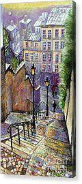 Paris Montmartre Steps Acrylic Print