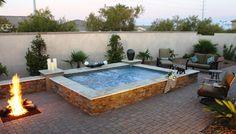 semi inground spa backyard - Google Search
